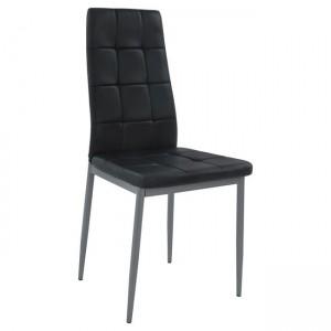 Καρέκλα Konilo Μεταλλική βαφής σε pu μαύρο