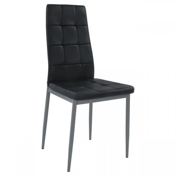Καρέκλα Konilo Μεταλλική βαφής σε pu μαύρο Καρέκλες1 Έπιπλα - epiploplanet.gr