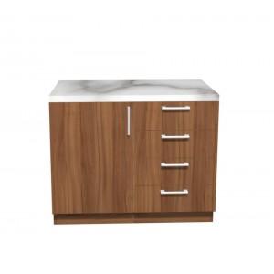 Ντουλάπι Κουζίνας Βάσης με Πάγκο σε χρώμα natural walnut π100*Β50*Υ86 Ecoline 901
