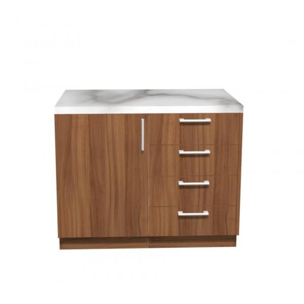 Ντουλάπι Κουζίνας Βάσης με Πάγκο σε χρώμα natural walnut π100*Β50*Υ86 Ecoline 901 Ντουλάπια κουζίνας με πάγκο και νεροχύτη Έπιπλα - epiploplanet.gr