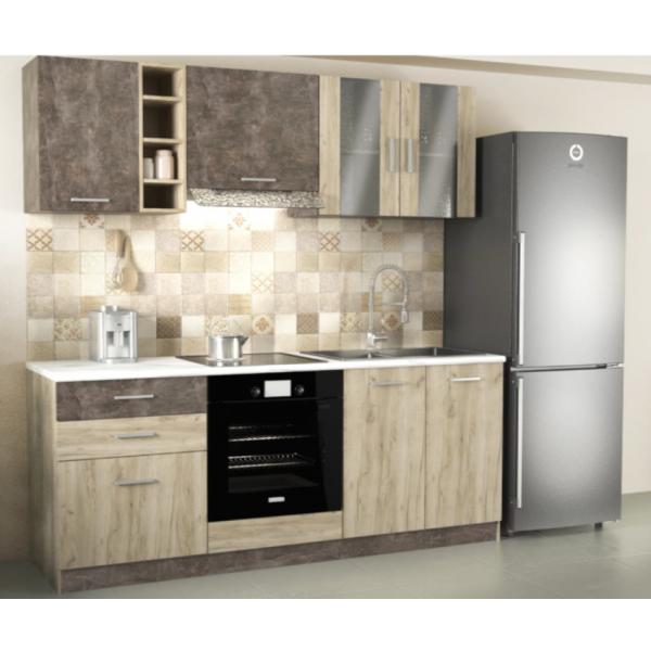 Σύθεση Κουζίνας set Tiffany grey oak Συνθέσεις Κουζίνας Σετ Έπιπλα - epiploplanet.gr