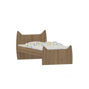 Παιδικό Κρεβάτι Μελαμίνης KIT-518 Γάτα