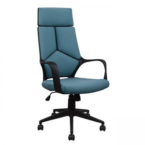 Καρέκλα γραφείου εργασίας με ύφασμα σε χρώμα γκρι σιέλ
