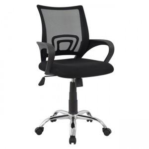 Καρέκλα γραφείου εργασίας με ύφασμα mesh χρώμα μαύρο
