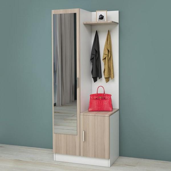 Επιπλα Εισοδου - Έπιπλο εισόδου με καθρέφτη σε χρώμα λευκό-μόκα Έπιπλα εισόδου epiploplanet.gr