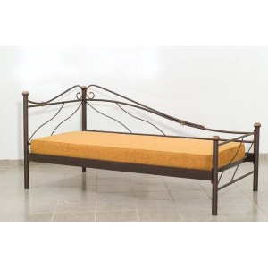 Καναπές Κρεβάτι Μεταλλικός Μονός σε χρώμα σκουριάς με χρυσό