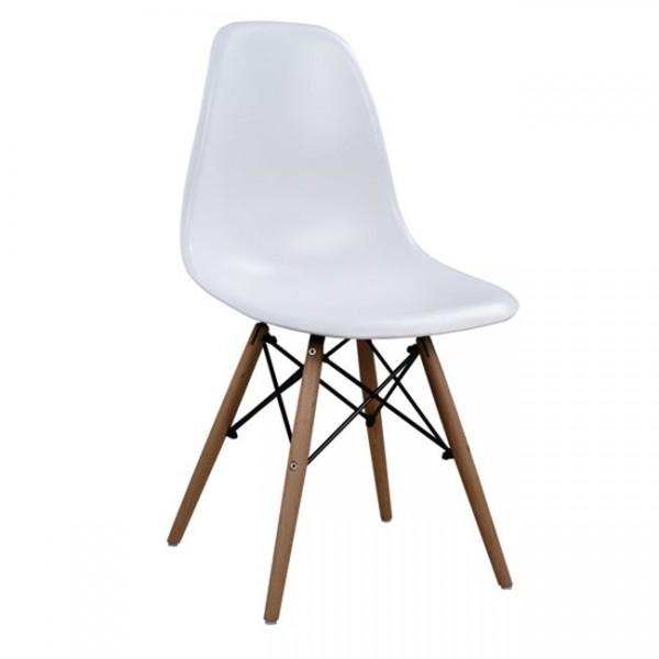 Καρέκλα Xenia PP με ξύλινα πόδια σε χρώμα  λευκό - φυσικό Καρέκλες1 Έπιπλα - epiploplanet.gr