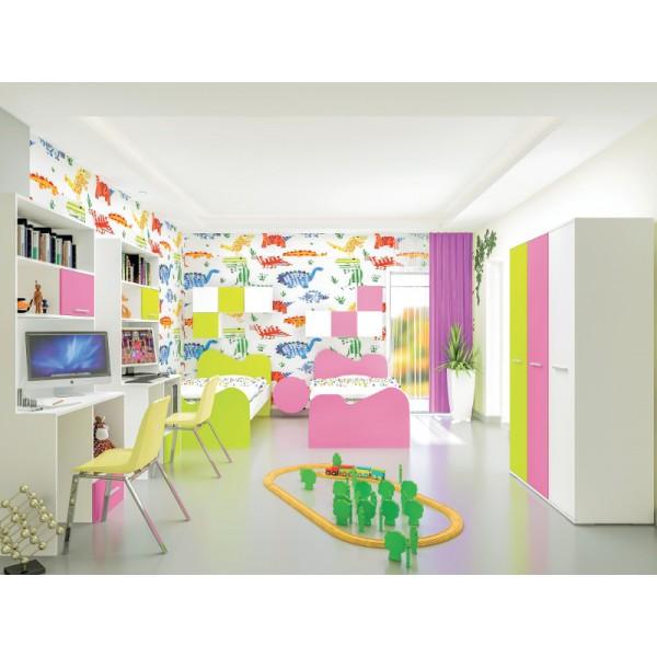 Παιδικό Δωμάτιο πλήρες με 2 μονά κρεβάτια  K019 Σετ Παιδικού Δωματίου epiploplanet.gr