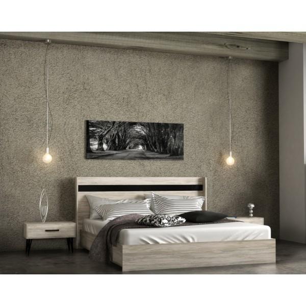 Κρεβατια - Κρεβάτ διπλό cool 160*200 σε χρώμα light arwood Κρεβάτια από MDF-Μελαμίνη epiploplanet.gr