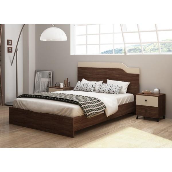 Κρεβάτι διπλό Passion 150*200 σε χρώμα vintage marine/satin Κρεβάτια1 Έπιπλα - epiploplanet.gr