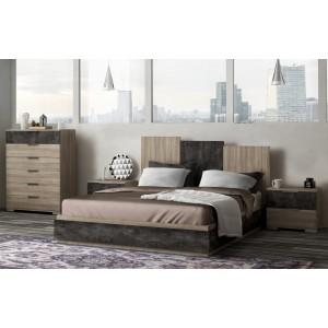Κρεβάτι διπλό Shape 160*200 σε χρώμα blonde liberty