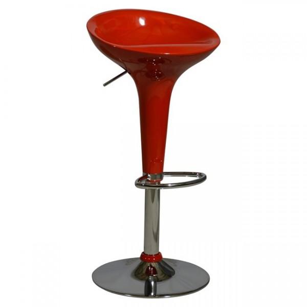 Σκαμπώ μπαρ με αμορτισέρ σε κόκκινο χρώμα