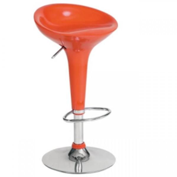 Σκαμπώ μπαρ με αμορτισέρ σε πορτοκαλί χρώμα Σκαμπό μπάρ epiploplanet.gr